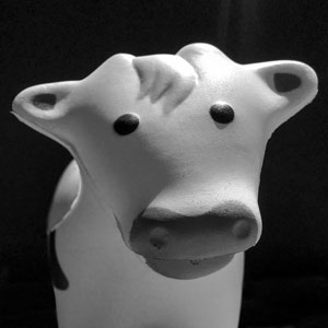 Toy cow face profile placeholder