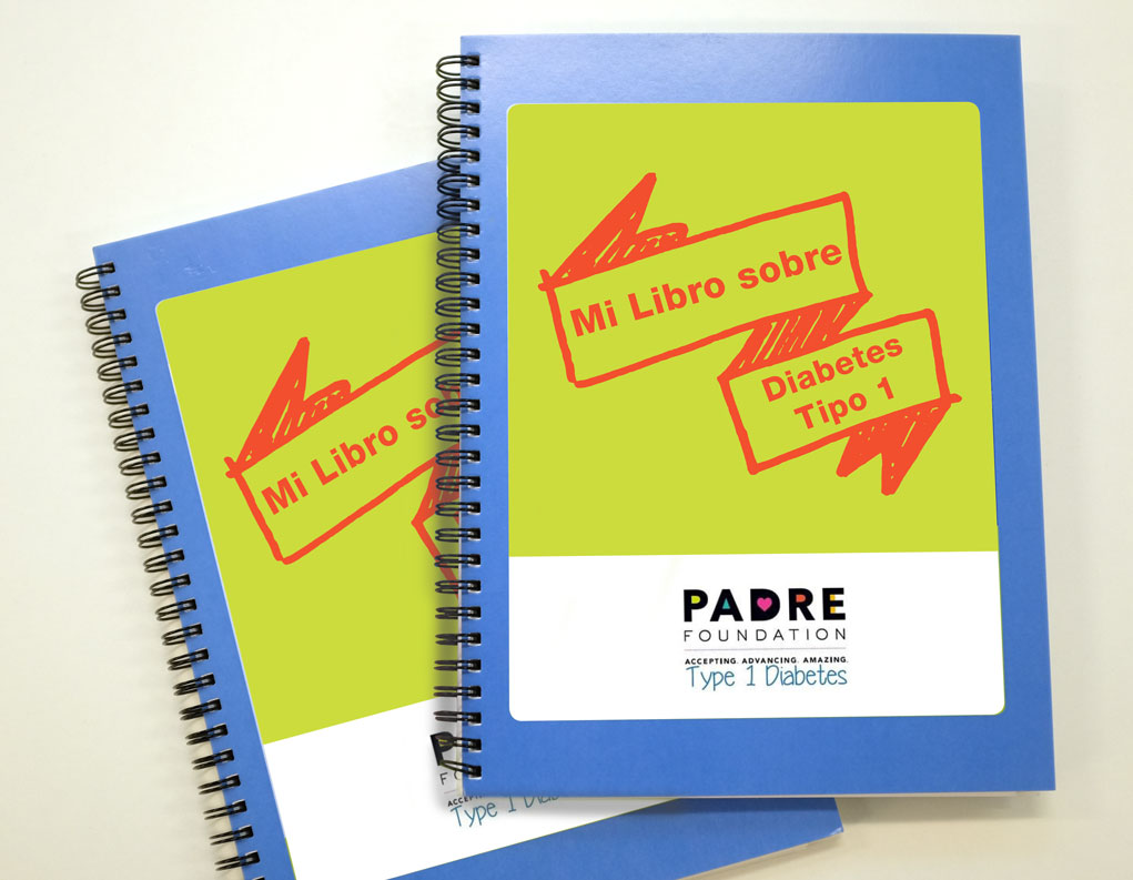 Picture of the type 1 diabetes manual in Spanish from the PADRE Foundation